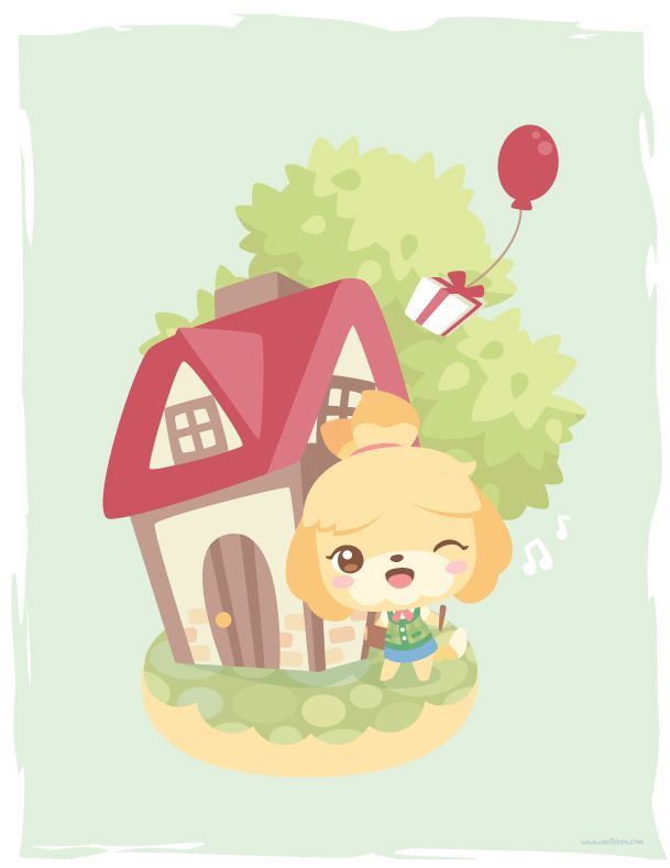 ACNL: Isabelle by ~milkbun on deviantART