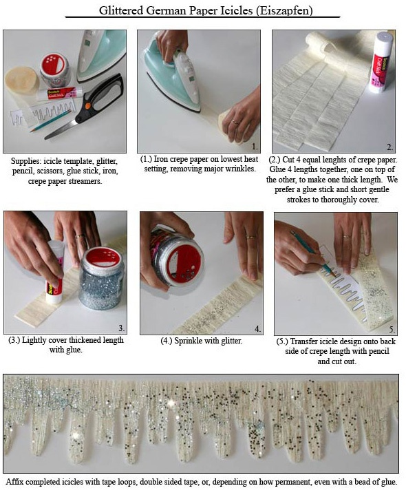 Make your own icicle trim Winter craft Pinterest Templates