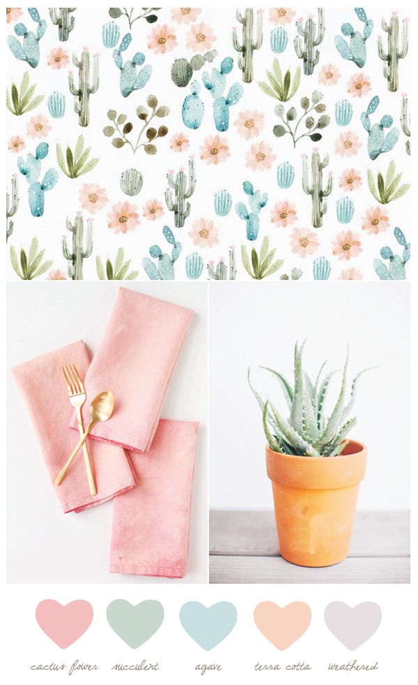 Color Palette: Cactus Flower + Agave by @cydconverse