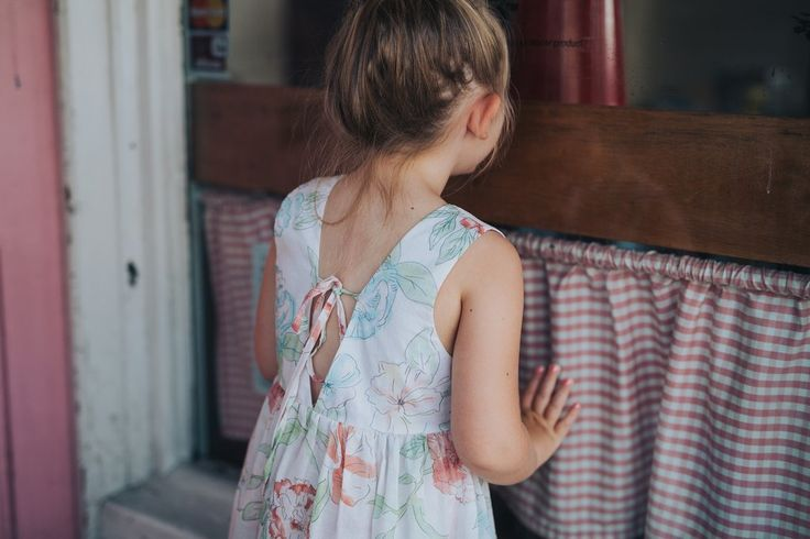 Lila dress - floral cotton voile with textile design by Ellie Whittaker for Minouche!