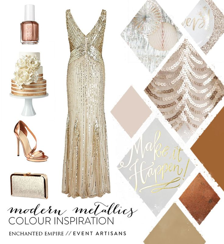 Modern Metallics / Enchanted Empire Gold, Copper and Bronze is seriously trending in the wedding and event industry. A trend that the Enchanted Empire team LOVE.