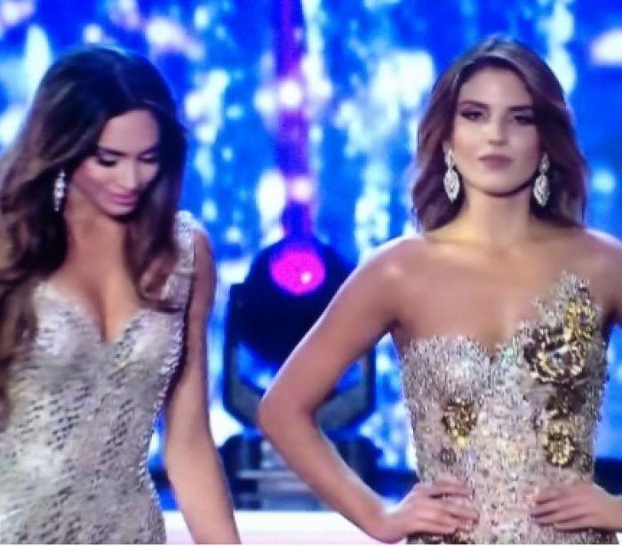 Perdeu final da Miss Colômbia... não hesitou em mostrar descontentamento