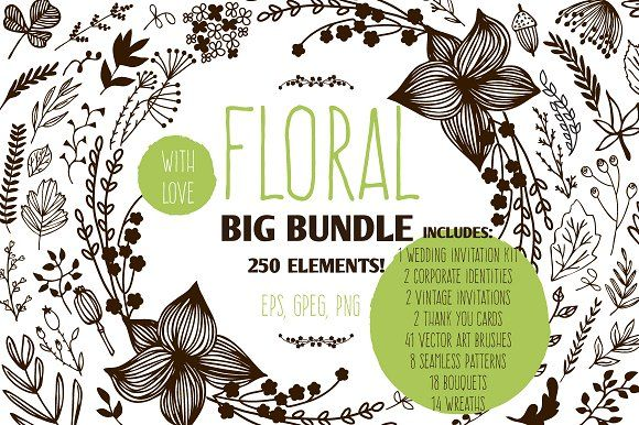 Floral Big Bundle by Svitlana Samokhina on @creativemarket