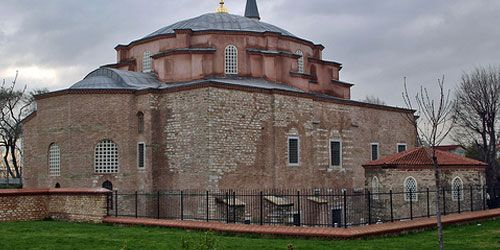 Little Ayasofya, known as Church of the Saints Sergius and Bacchus, built by Justinian in the first year of his reign as an Eastern Orthodox Church in the 530s and converted into a mosque during the Ottoman Empire. The building is located in Fatih district neighboring Kumkapi in Istanbul.  http://goo.gl/qAVS3d