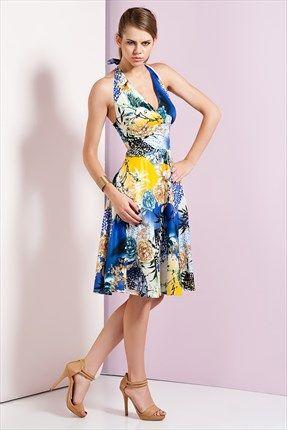 Ruj by SLN  - Sarı Elbise 43321