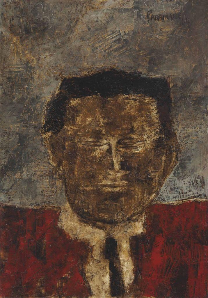 Akbar Padamsee (B. 1928) Untitled (Male Bust)
