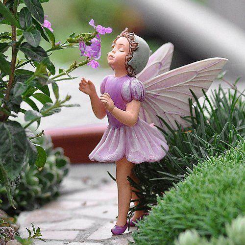 The Lilac Fairy ~ Cicely Mary Barker Fairy Ornament / Figurine Series XXI · Miniature  Fairy GardensMiniature ...