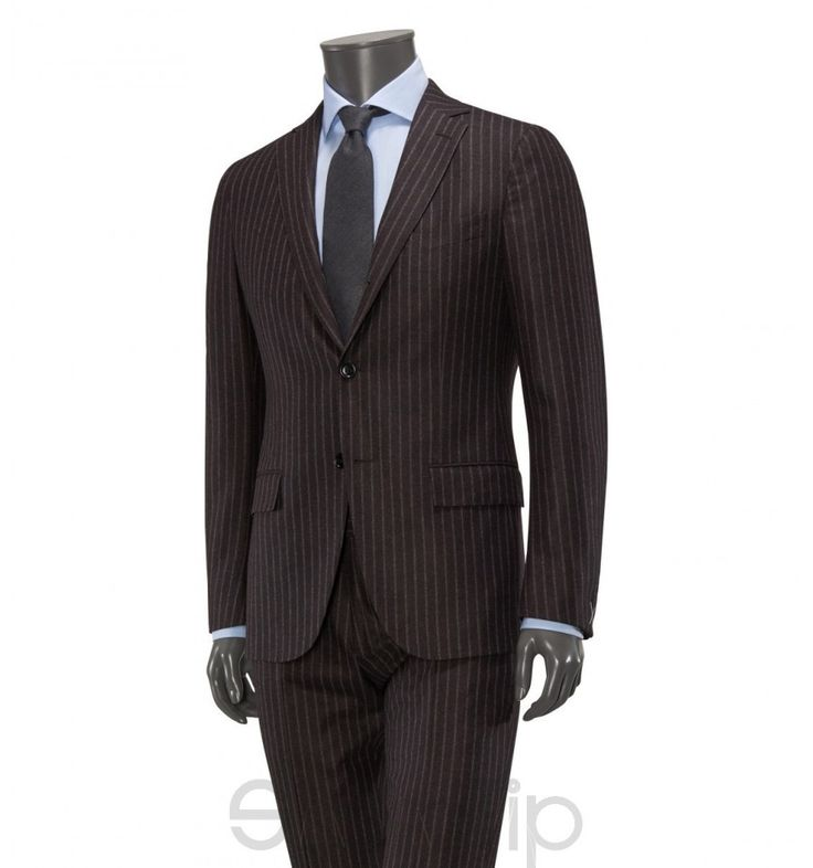 Anzug '14milmil14' dunkelbraun gestreift Ermenegildo Zegna