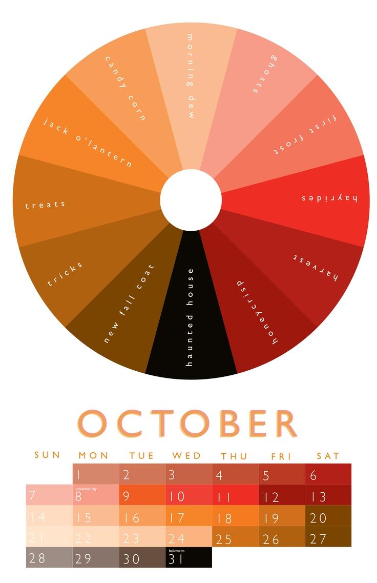 october color wheel 2012 calendar pinterest october