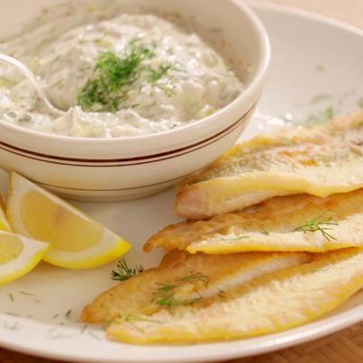 Crispy Flounder with Dill Tartar Sauce | Recipe | Tartar ...