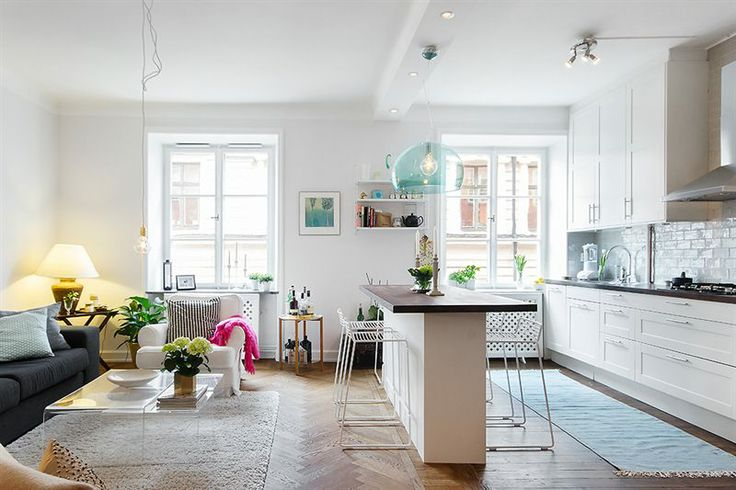 Small Apartment Kitchen Island Small Spaces Pinterest