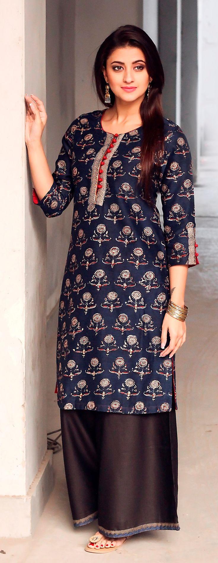 #kurta #palazzo #fusion #chic #women #fashion #style #easy #styling #Fabindia