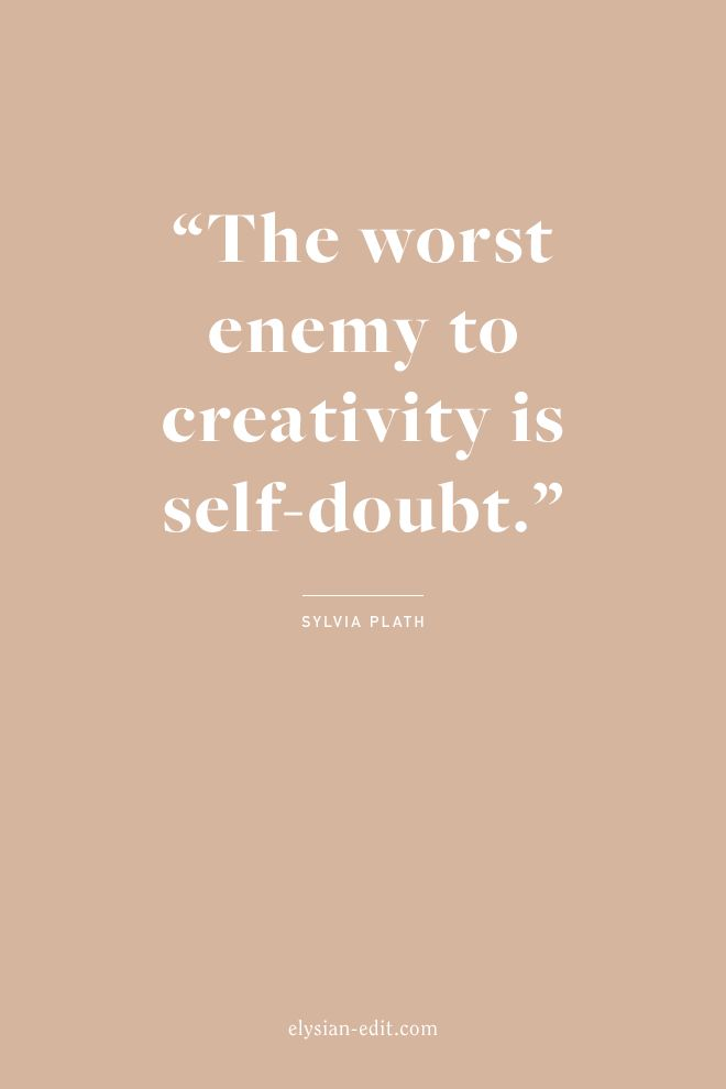 UOGoals: Words of wisdom from Sylvia Plath — never let self-doubt get in the way of pursuing your creative goals and dreams.