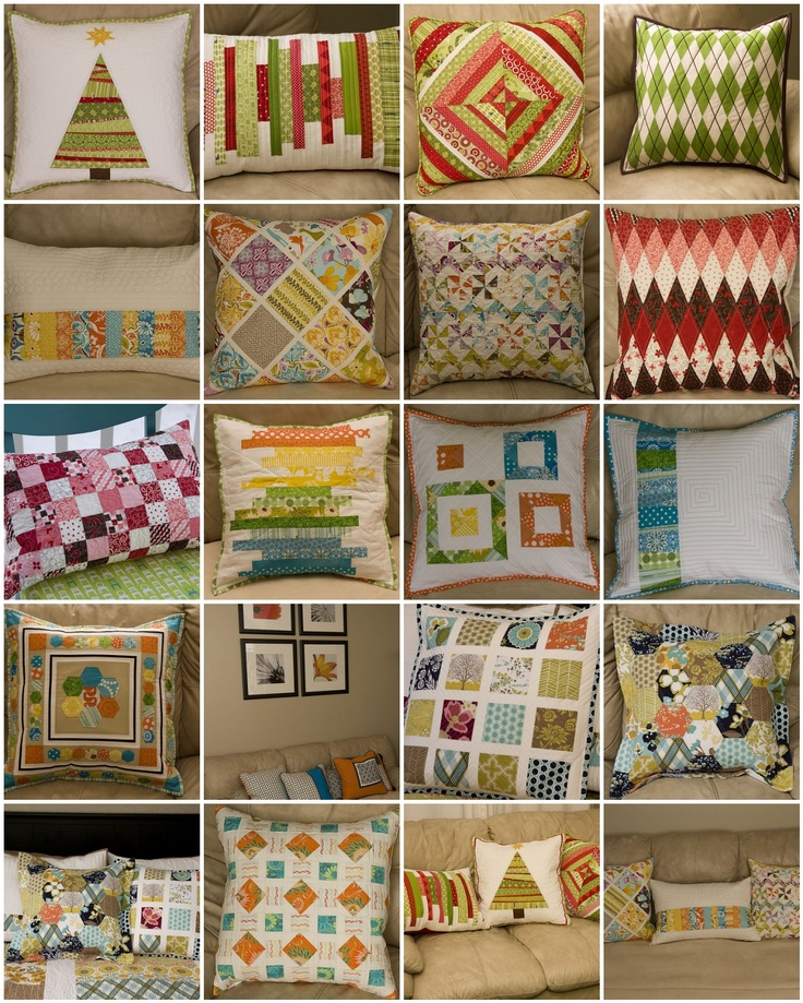 cute scrappy pillowsQuilty Stuff, Crafts Ideas, Sewing Projects, Quilt Ideas, Patchwork Almofadas, Diy Crafts, Quilt Stuff, Quilty Inspiration, Quilt Crafts