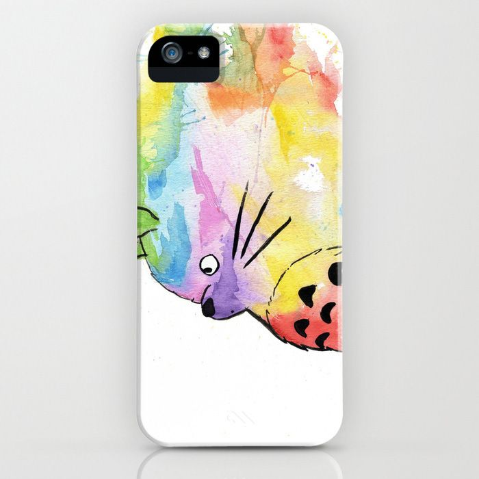 Watercolor Totoro iPhone/iPod Case | dotandbo.com