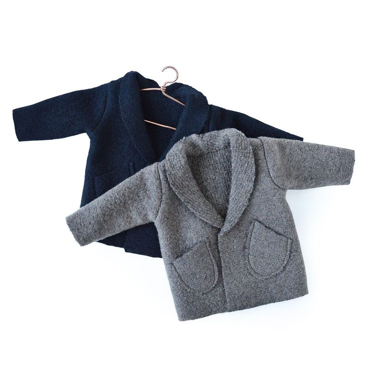 Woolen coat (long) with the pockets for the Philomena Kloss bears