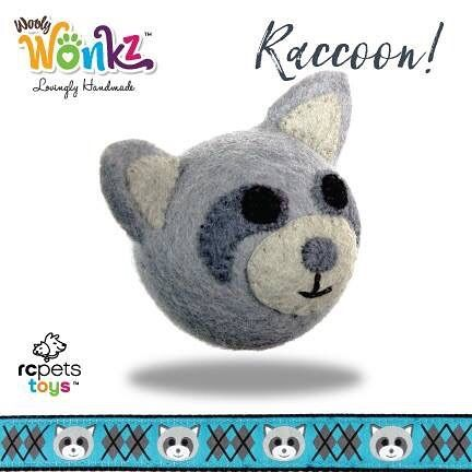 Today we will be introducing you to four of our new friends. They are the woodland creatures of Wooly Wonks and they are the first collection from our new brand, RC Pets Toys. All our toys are handmade by artisans in Nepal of 100% New Zealand wool.  Meet #3 - This is Raccoon!  Meet all of Hedgehog's friends and learn more about our new toy brand here: www.rcpetstoys.com  #WoolyWonks #WoodlandSeries #sustainable #unique #DesignedInCanada #Nepal #NewZealandWool #pettoys #superzoo