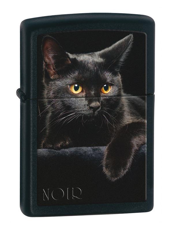 Black cat on black Zippo lighter from Zippo Italy!