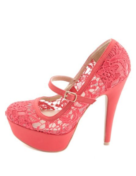 Lace Mary Jane Platform Pumps: Charlotte Russe - http://AmericasMall.com/categories/juniors-teens.html