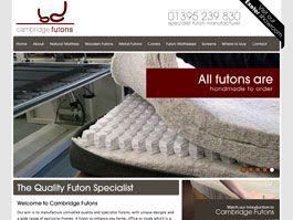 Cambridge Futons - Ecommerce Website Development