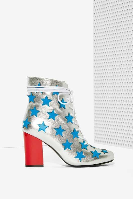 Non Blonde Starstruck Leather Boot - Shoes
