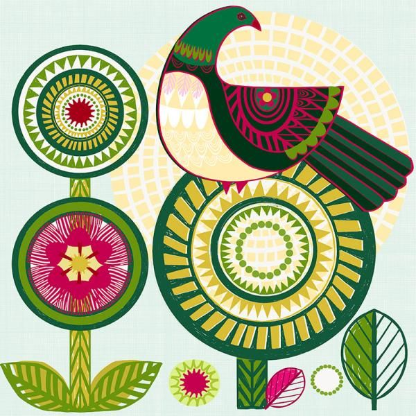 Sunshine Kereru New Zealand Folk birds series Edition of 45 From NZ$145