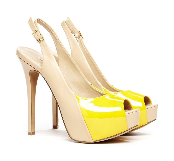 I must have these shoes--in both neon yellow and nude/black! LOOOOOVE!
