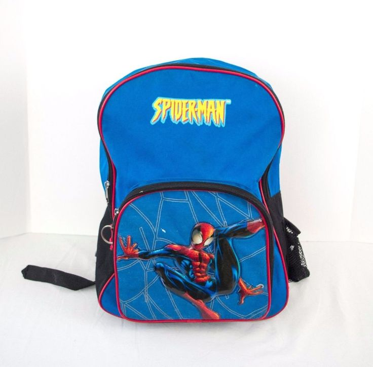 """SpiderMan Backpack Marvel Blue and Red 16"""" x 11"""" x 4""""   #Marvel #Backpack"""