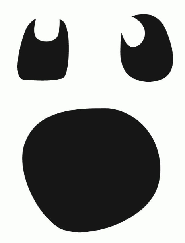 Image result for ghost face template printable Halloween