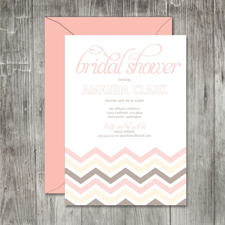 43 best Bridal Shower Invitations images on Pinterest - bridal shower invitation samples