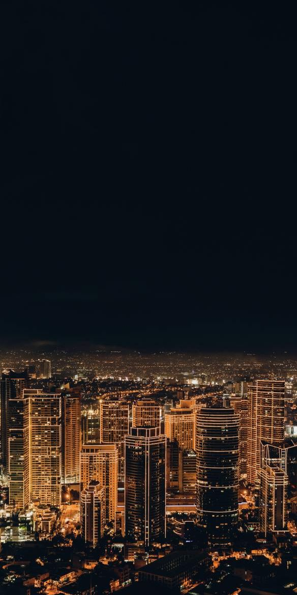 City View Night Light Red Iphone 6 Wallpaper City View Night View Wallpaper City Lights Wallpaper