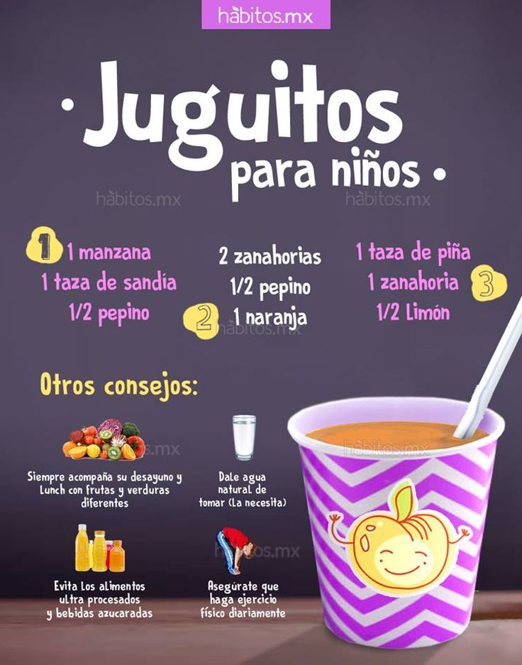 Hábitos Health Coaching | JUGOS PARA NIÑOS  Pinterest ;) | https://pinterest.com/cocinadosiempr
