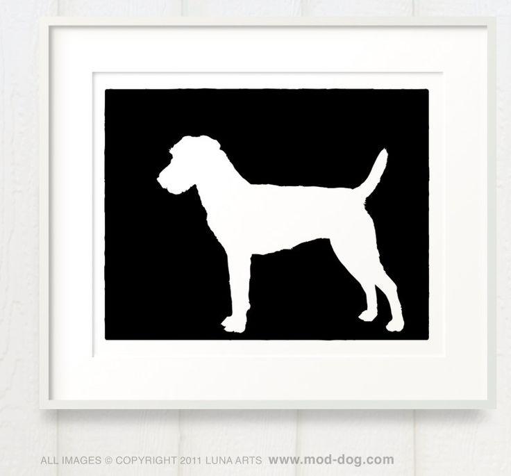 Mod Jack Russell Terrier Parson Russell Terrier Silhouette Fine Art Print 8x10. $24.00, via Etsy.