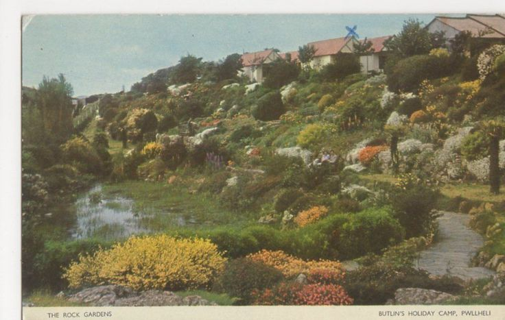 Butlins Pwllheli, The Rock Gardens 1955 Postcard, B296 in Collectables, Postcards, Holiday/ Butlins | eBay