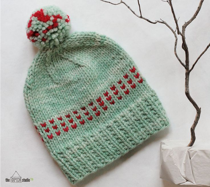 Knitting Hat Patterns For Beginners : Theopenstudio winter mint in malabrigo chunky water