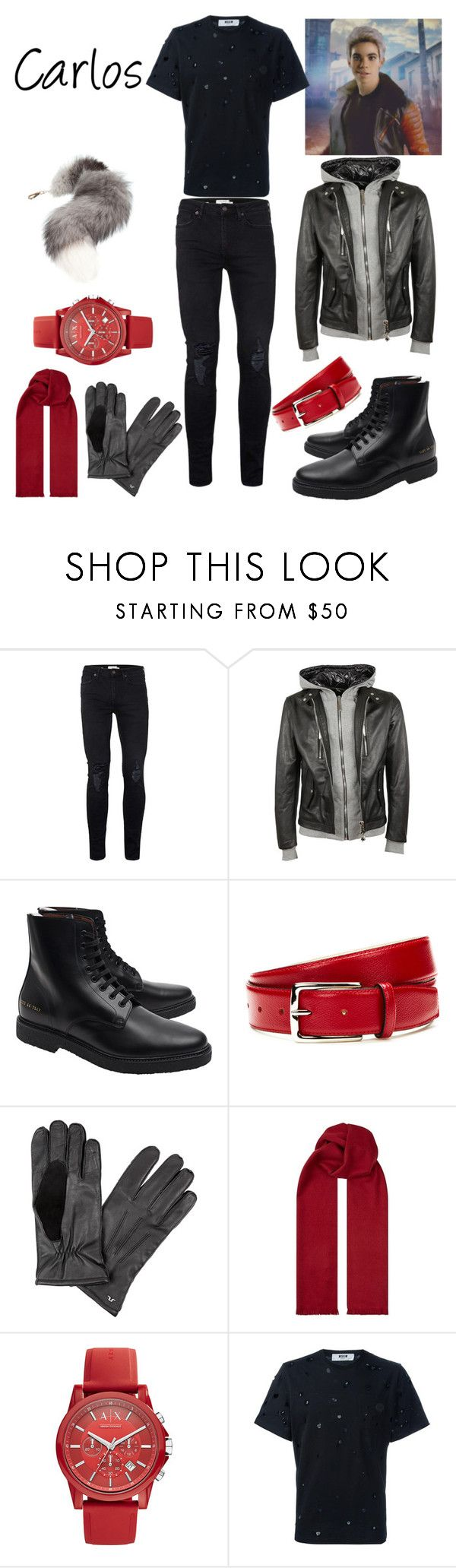 """""""Carlos' Winter Outfit"""" by keih95 ❤ liked on Polyvore featuring Topman, Philipp Plein, Common Projects, DeSanto, J.Lindeberg, BOSS Hugo Boss, Armani Exchange, MSGM, Niclaire and men's fashion"""