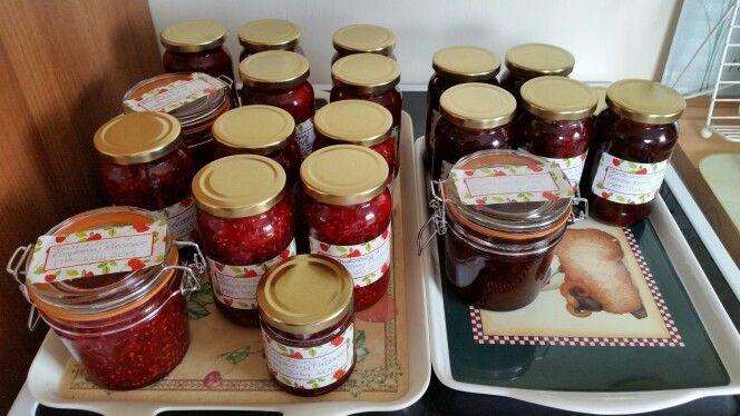 Strawberry Preserve, Strawberry & Raspberry Preserve and Strawberry & Gooseberry Jam 2015
