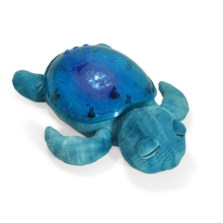 Cloudb's Tranquil Turtle™ Despite its dozy demeanor, Tranquil Turtle is actually working double-time. It's their first product to combine both sight and sound features — projecting gentle underwater images and playing the soothing sounds of the sea. This comforting combination makes for a super serene sleep space.