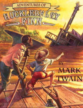 """In The Adventures of Huckleberry Finn, Mark Twain creates an entertaining adventure of Middle America in the 1800's – afloat on a raft on the Mississippi River. Huck escapes his civilized life when he arranges his own """"murder"""" and turns back into the backwoods, downriver yokel he started as, and in the process springing a slave, Jim, from bondage"""