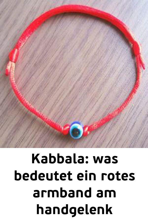 Kabbala: was bedeutet ein rotes armband am handgelenk