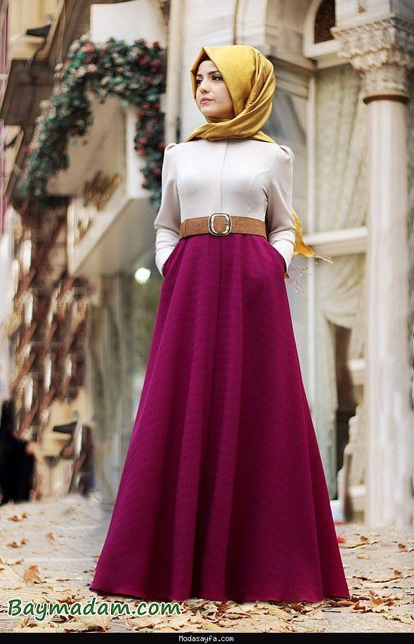 Son moda tesettür elbiseler 2016 - http://modasayfa.com/son-moda-tesettur-elbiseler-2016/