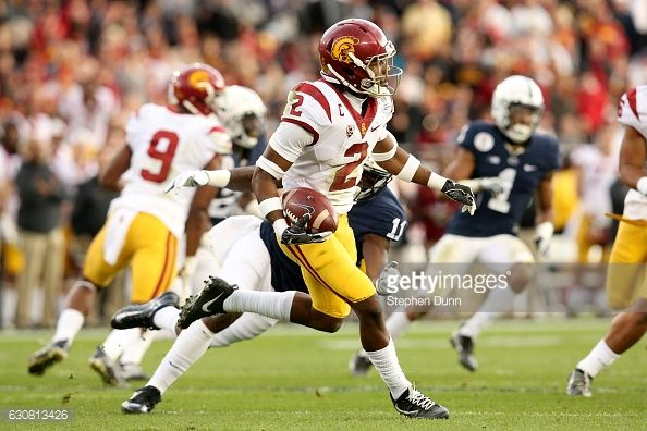 News Photo : Defensive back Adoree' Jackson of the USC Trojans...