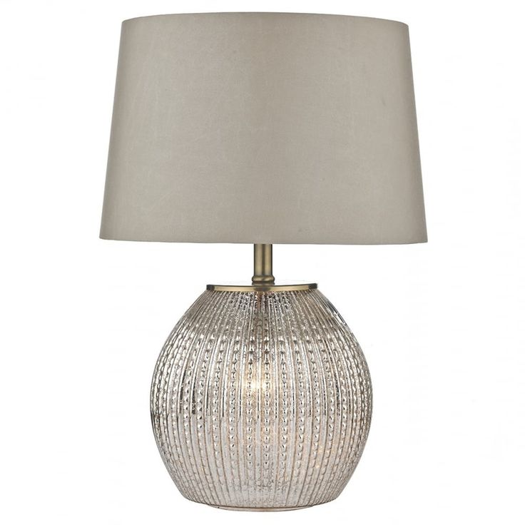 SON4232 Sonia Dual Light Table Lamp in Antique Silver From Dar