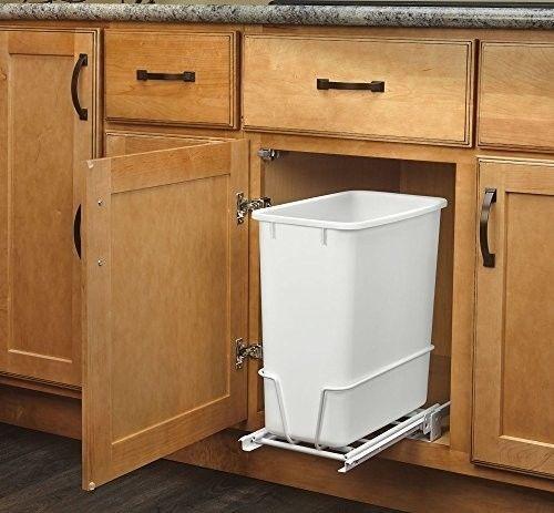 Kitchen-Under-Sink-Cabinet-Trash-Waste-Garbage-Can-Slide