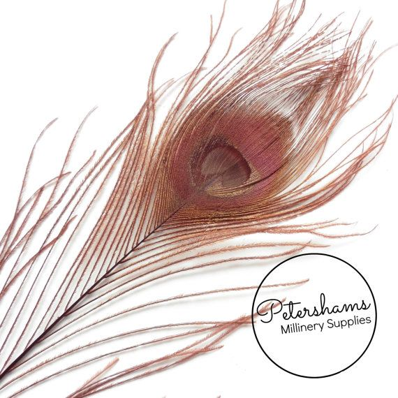 Dyed Peacock Feather for Millinery Hat Making Wedding