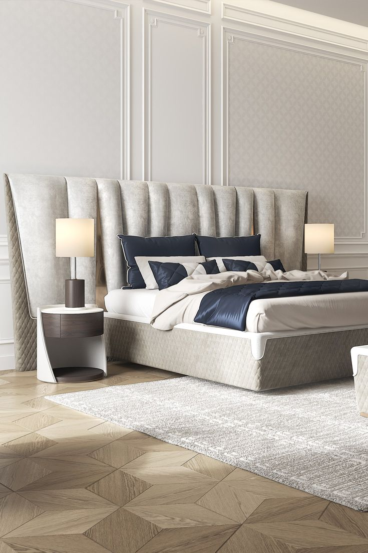 Exclusive Modern Italian Upholstered Leather Bed in 2019