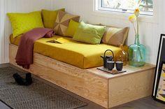 Byg din egen soveseng/bænk med opbevaring. Se hvordan du gør her.