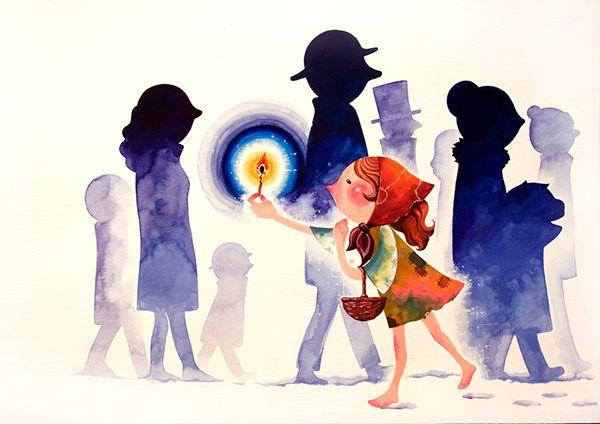 [The Little Match Girl] illustration on Behance