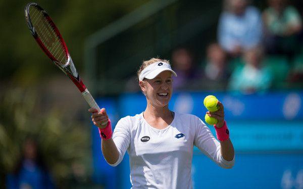 Via Zimbio.com:  Alison Riske def. Mirjana Lucic-Baroni to reach the QFs of the WTA Aegon Open Nottingham at Nottingham Tennis Centre on June 10, 2015 in Nottingham, England.