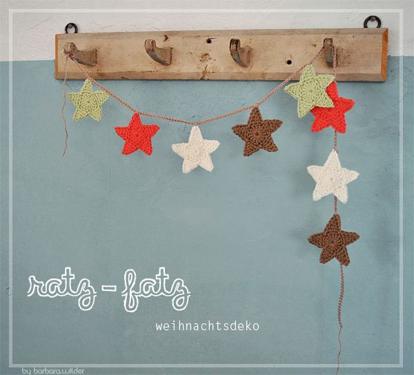 Free Crochet Pattern For Star Garland : Free crochet pattern for star garland Crochet Pinterest